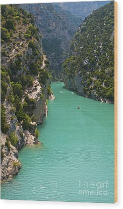 Mouth Of The Verdon River  Wood Print by Bob Phillips