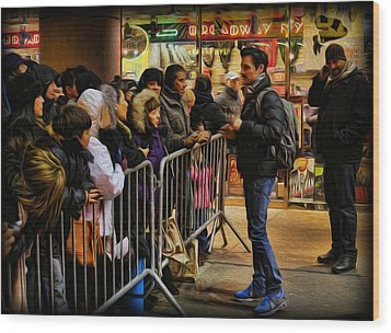 Movie Stars - The Artist Signing Autographs Wood Print by Lee Dos Santos