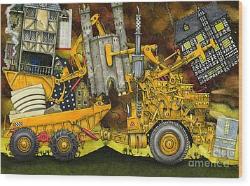 Moving Home Wood Print by Colin Thompson