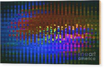 Moving Through Currents Wood Print by Cedric Hampton