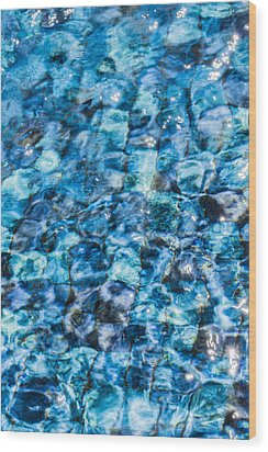 Wood Print featuring the photograph Moving Water 2 by Leigh Anne Meeks
