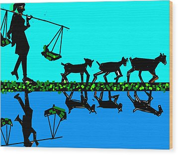 Moving With Mirror Wood Print by Anand Swaroop Manchiraju