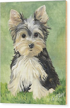 Moxie Roxie Wood Print by Suzanne Schaefer