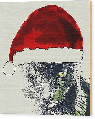 Mprints - Christmas Cheer 12 Wood Print by M  Stuart
