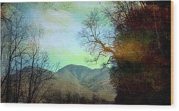Mprints-smokey Mountain Memories Wood Print by M  Stuart