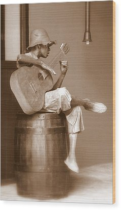 Mr. Bojangles Wood Print by Karen Wiles