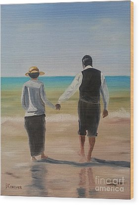 Mr. Carson And Mrs. Hughes Wood Print by Bev Conover