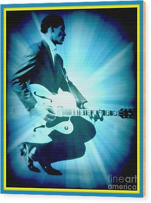 Mr Chuck Berry Blueberry Hill Style Edited 2 Wood Print by Kelly Awad
