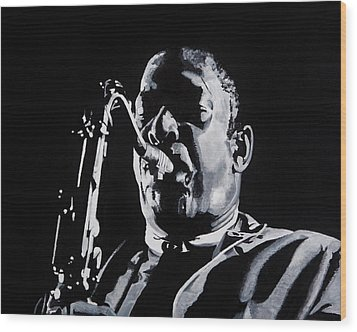 Mr Coltrane Wood Print by Brian Broadway