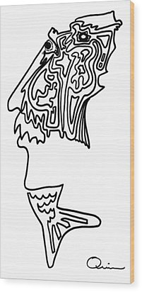Mr. Fishman Wood Print