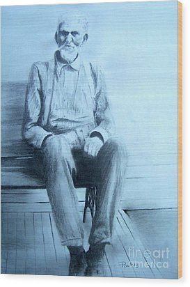 Wood Print featuring the drawing Mr. Higgs by Mary Lynne Powers