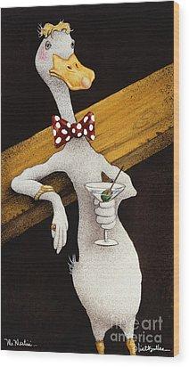 Mr. Martini... Wood Print by Will Bullas