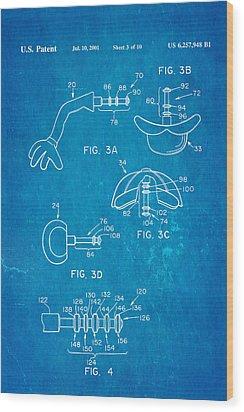 Mr Potato Head 2 Patent Art 2001 Blueprint Wood Print by Ian Monk