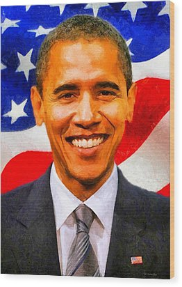 Wood Print featuring the digital art Mr. President by Kai Saarto