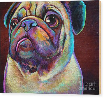 Wood Print featuring the painting Mr. Pugnacious  by Robert Phelps