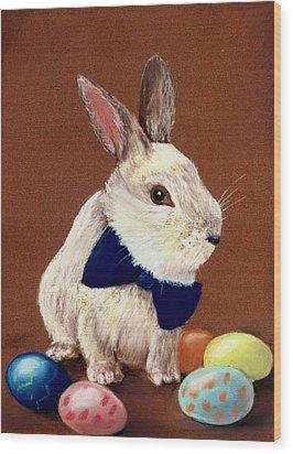 Mr. Rabbit Wood Print by Anastasiya Malakhova