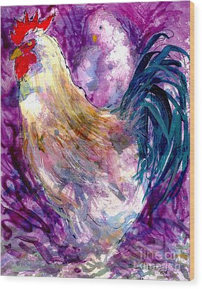 Mr. Rooster  Wood Print