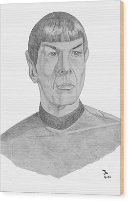 Mr. Spock Wood Print