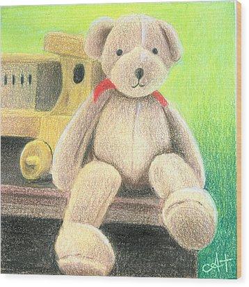 Mr Teddy Wood Print