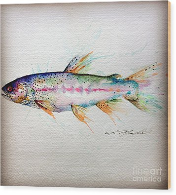 Mr Trout Wood Print by Chris Mackie