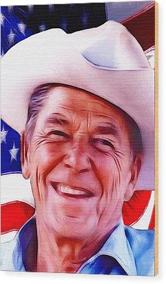 Mr.president 2 Wood Print by Steve K