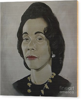 Mrs. Coretta Scott King Wood Print