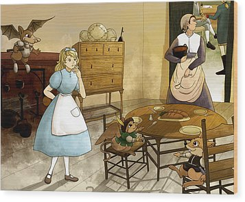 Mrs. Gage's Kitchen Wood Print by Reynold Jay