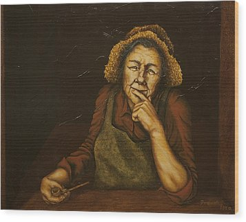 Mrs. Zackaharia Wood Print by C Michael French