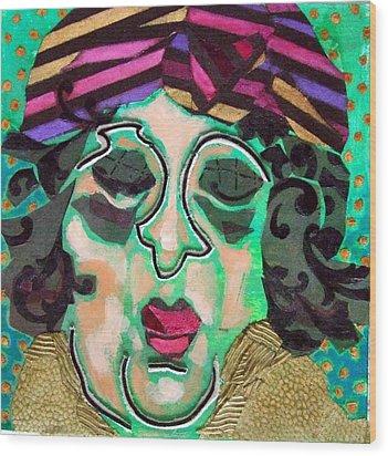 Mrs.eisenberg Wood Print by Diane Fine