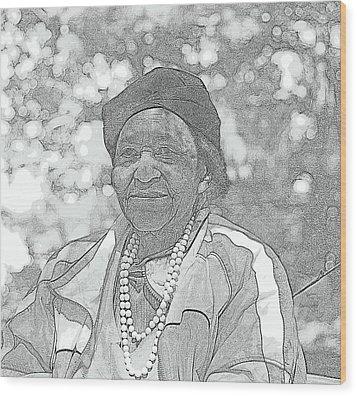 Ms. Ida  Wood Print by Rosemarie E Seppala