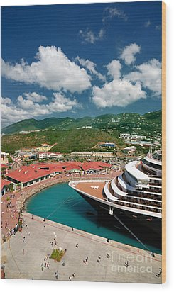 Ms Noordam St Thomas Virgin Islands Wood Print by Amy Cicconi