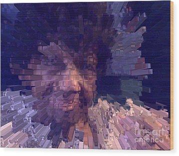 Wood Print featuring the digital art Ms. Virginia by Jacqueline Lloyd