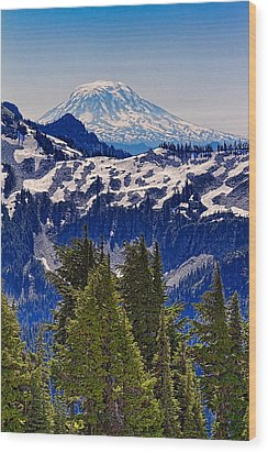 Wood Print featuring the photograph Mt Adams by Ken Stanback