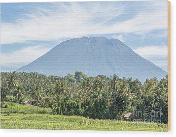 Mt Agung Wood Print