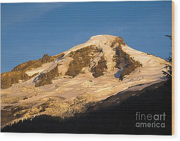 Wood Print featuring the photograph Mt.baker At Sunset  by Yulia Kazansky