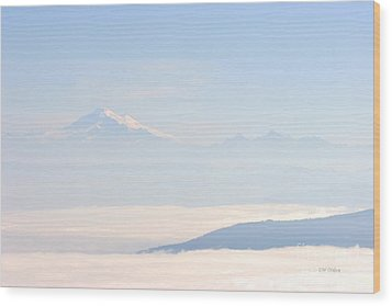 Mt. Baker From San Juan Islands Wood Print