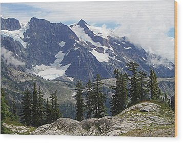 Mt Baker Washington View Wood Print by Tom Janca