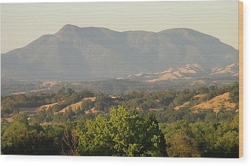 Wood Print featuring the photograph Mt. Cali by Shawn Marlow