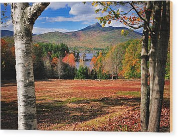 Mt Chocorua - A New Hampshire Scenic Wood Print by Thomas Schoeller
