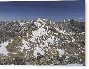 Mt. Democrat Wood Print by Aaron Spong