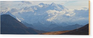 Wood Print featuring the photograph Mt. Denali by Ann Lauwers