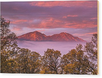 Mt Diablo In The Early Morning Light Wood Print