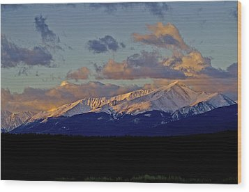 Mt Elbert Sunrise Wood Print by Jeremy Rhoades