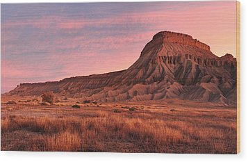 Wood Print featuring the photograph Mt Garfield Sunrise by Ronda Kimbrow