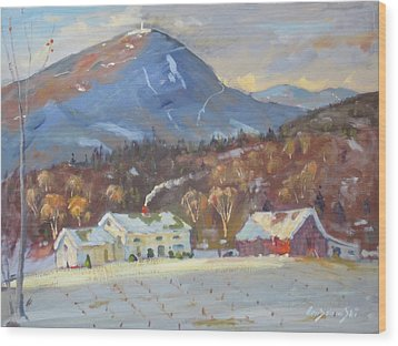 Mt Greylock From East Harbor Road Wood Print