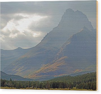Mt Grinnell - Glacier National Park Wood Print