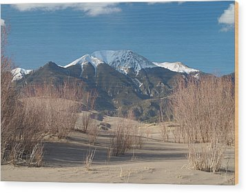 Mt. Herard And The Sand Dunes Colorado Wood Print
