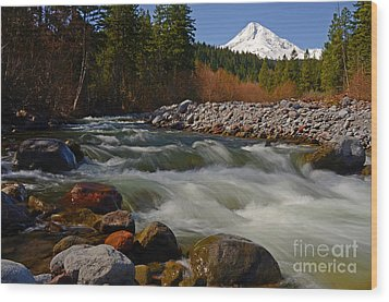 Mt. Hood Landscape Wood Print by Nick  Boren