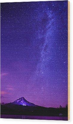 Mt. Hood Milky Way 01 Wood Print