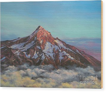 Mt Hood North Face Wood Print